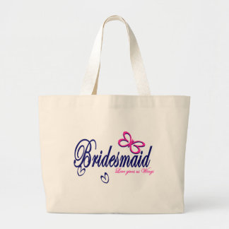 Bridesmaid/ Butterfly theme Large Tote Bag