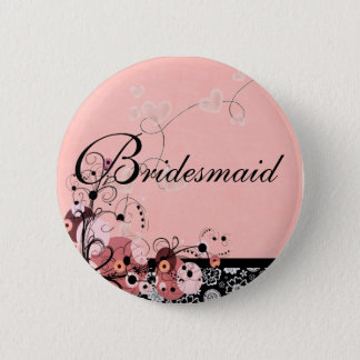 Bridesmaid by Request Pinback Button