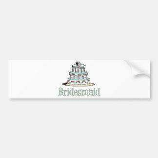 Bridesmaid (Cake) Car Bumper Sticker