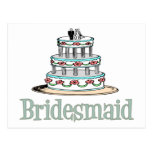 Bridesmaid (Cake) Post Cards
