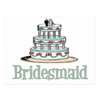 Bridesmaid (Cake) Postcard