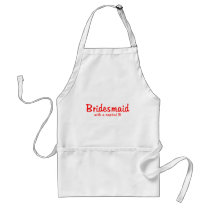 Bridesmaid Capital B Adult Apron