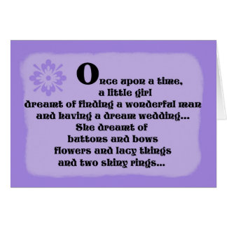 Bridesmaid Card -- Once Upon a Time in Purple