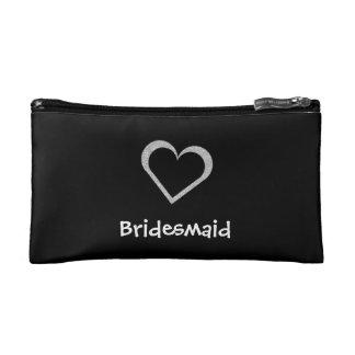 Bridesmaid Chalkboard Heart Make Up Bag