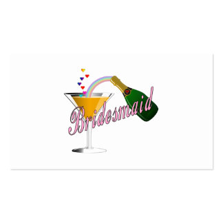 Bridesmaid Champagne Toast Business Card Templates