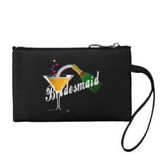 Bridesmaid Champagne Toast Change Purse