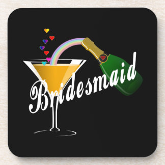 Bridesmaid Champagne Toast Coaster