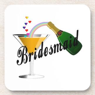 Bridesmaid Champagne Toast Drink Coasters