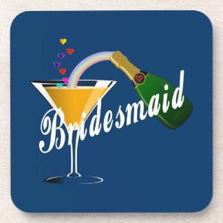 Bridesmaid Champagne Toast Drink Coaster