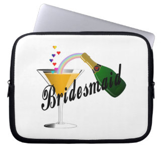 Bridesmaid Champagne Toast Laptop Computer Sleeve