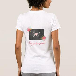 Bridesmaid Colorado State Chic Floral Wedding T-Shirt