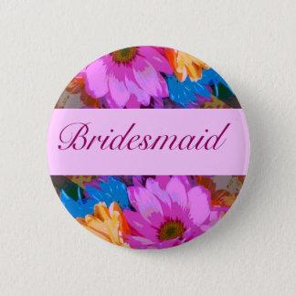 Bridesmaid - Crazy Daisies (1) Pinback Button