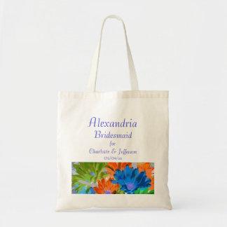 """Bridesmaid"" - Crazy Daisies Canvas Bag"