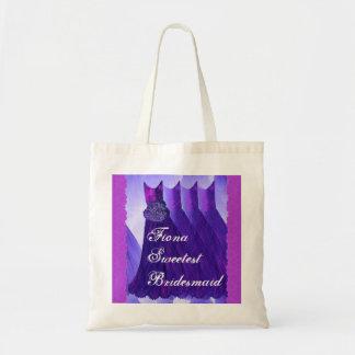 Bridesmaid Custom Name Lace and Dresses V12 Tote Bag