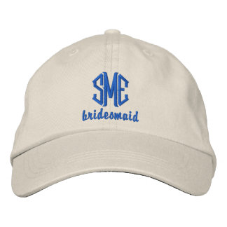Bridesmaid Custom Wedding Monogrammed Baseball Cap