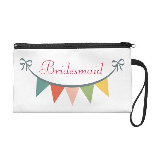 Bridesmaid Customized Bagettes Bag Wristlet Purse