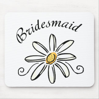 Bridesmaid Daisy Flower Mouse Pad