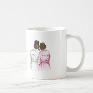 Bridesmaid? Dark Br Bun Bride Br Bob Maid Coffee Mug