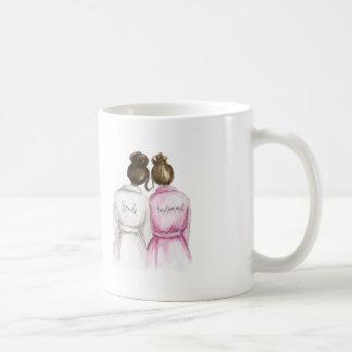 Bridesmaid? Dark Br Bun Bride Br Bun Maid Coffee Mug