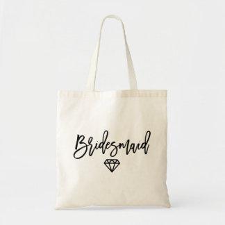 Bridesmaid Diamond Tote Bag