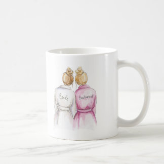 Bridesmaid? Dk Bl Bun Bride Bl Bun Maid Coffee Mug