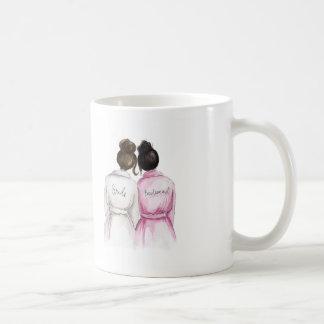 Bridesmaid? Dk Br Bun Bride Black Bun Maid Classic White Coffee Mug