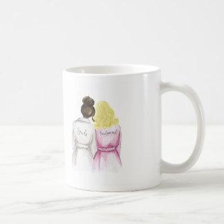 Bridesmaid? Dk Br Bun Bride Dk Bl L Curls Maid Coffee Mug
