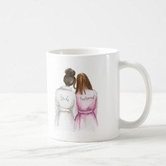 Bridesmaid? Dk Br Bun Bride Long Brunette Maid Classic White Coffee Mug