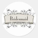 *Bridesmaid Etiqueta Redonda