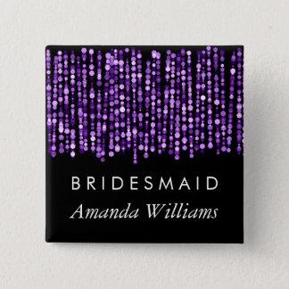 Bridesmaid Favor Modern Purple Lights Button