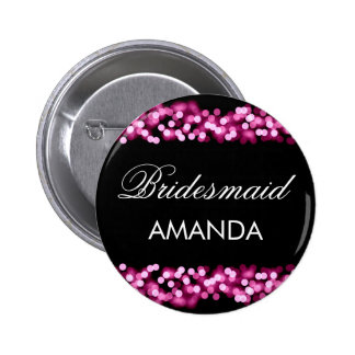 Bridesmaid Favor Pink Hollywood Glam Pinback Button