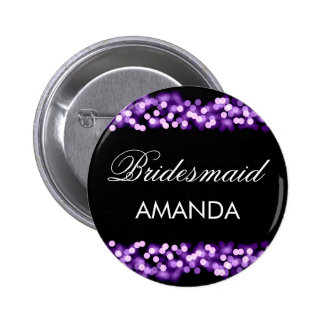 Bridesmaid Favor Purple Hollywood Glam Button
