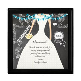 Bridesmaid Favors  Black Lacquer Jewelry Box