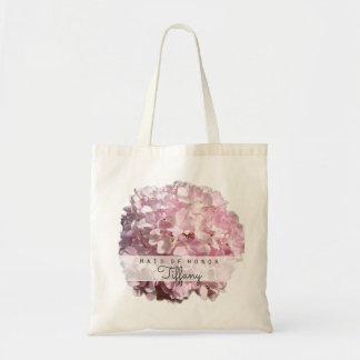 Bridesmaid Flower Girl Pink Hydrangea Tote