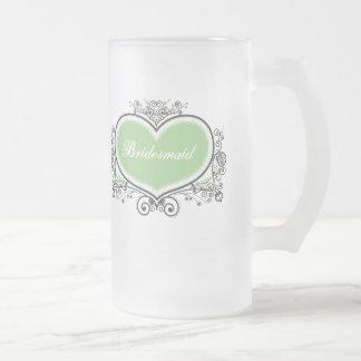 Bridesmaid Frosted Glass Beer Mug