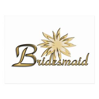 Bridesmaid Gold Post Cards