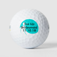 Bridesmaid Golf Ball Invite