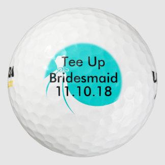 Bridesmaid Golf Ball Invite