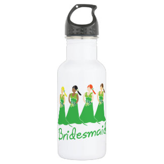 Bridesmaid Green Dress 18oz Water Bottle