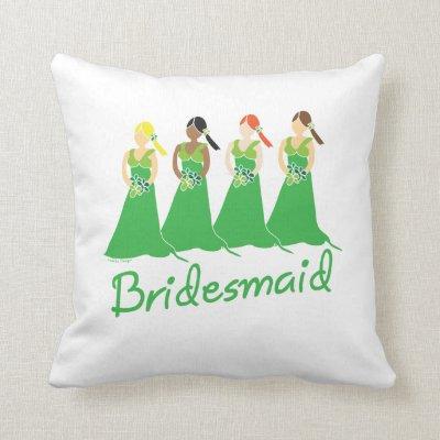 Bridesmaid Green Dress Pillow