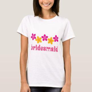 Bridesmaid Hawaiian Tropical Flowers Wedding T-Shirt