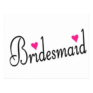 Bridesmaid Hearts Postcard