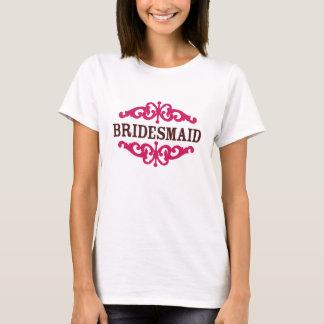 Bridesmaid (Hot Pink & Chocolate Brown) T-Shirt