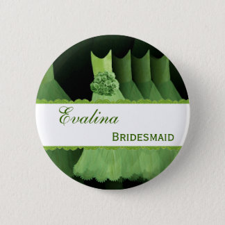 BRIDESMAID ID Button Green Gowns Lime Lace V12