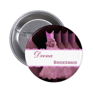 BRIDESMAID ID Button TPink Gowns Pink Lace V9