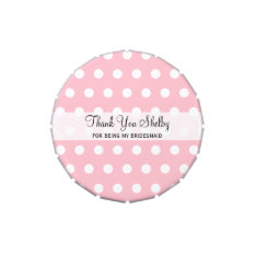 Bridesmaid Inexpensive Thank You Gifts Candy Tin at Zazzle