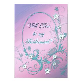 Bridesmaid inviation with star diamonds card