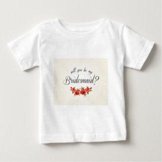 Bridesmaid Invitation Baby T-Shirt