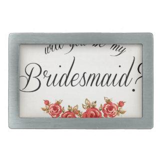 Bridesmaid Invitation Rectangular Belt Buckles