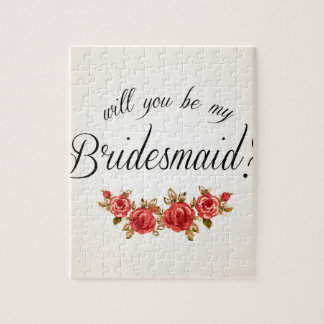 Bridesmaid Invitation Jigsaw Puzzle